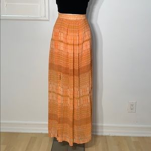 Orange Double Slit Maxi